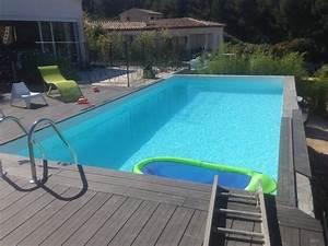 creation d39 un parquet en lames composite autour d39 une With parquet piscine
