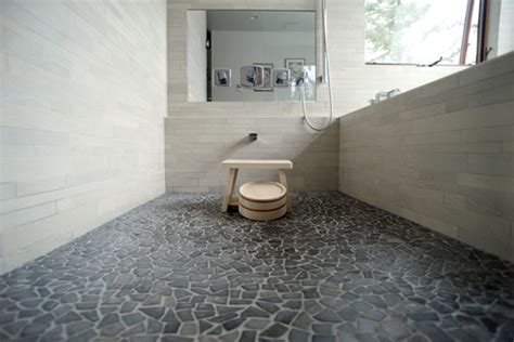 Glazed Grey Mosaic Tile-pebble Tile Shop