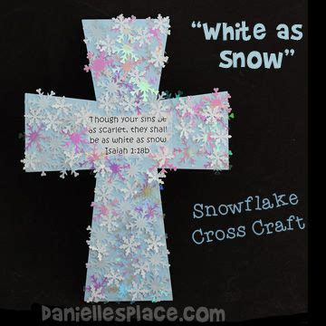 snowflake cross craft for preschool bible sunday 490 | 2a80babe737d51c1e15a8232350f4d83