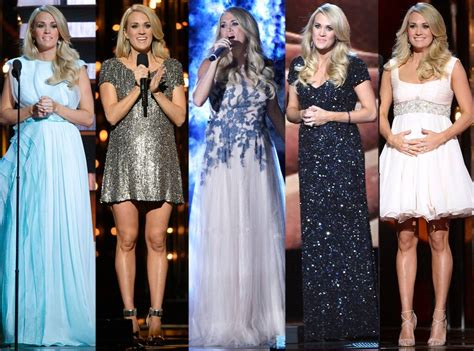 pregnant carrie underwood hides baby bump  christmas