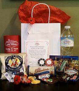 thank your guests for traveling with these destination With las vegas wedding party favors