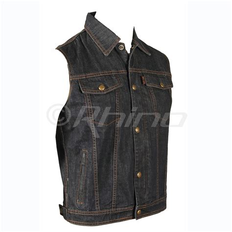 motorcycle vest mens blue denim vest motorcycle vest biker vest s 6xl ebay