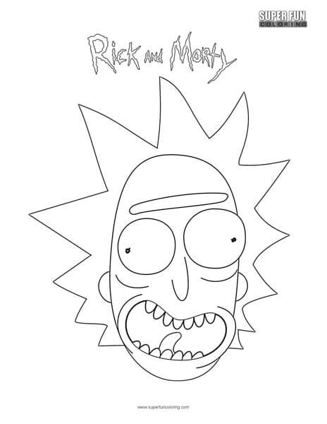 rick rick  morty coloring page super fun coloring