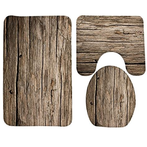 wondertify bath mat wood rustic old barn wood bathroom