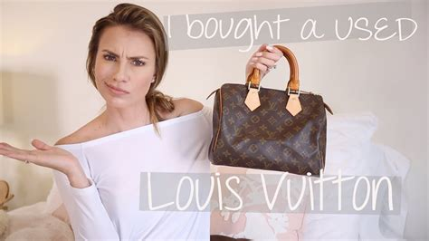 buy  usedpre owned louis vuitton speedy  lv store repair experience youtube