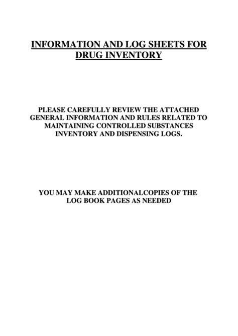 controlled substance inventory log printable