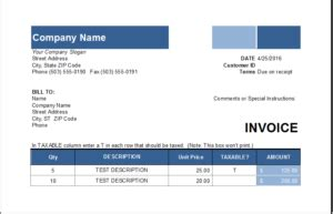 ms excel customer invoice template excel invoice templates