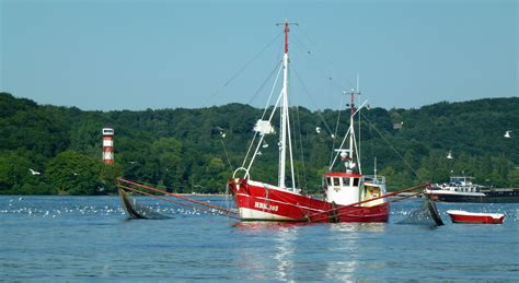 Fishing Boat North Sea by Free Images Coast Water Boot Red Vehicle Mast Bay