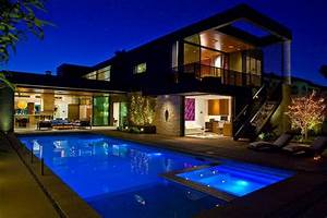 Eclairage Terrasse Piscine : eclairage piscine maison moderne architecte ~ Preciouscoupons.com Idées de Décoration