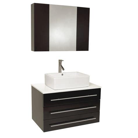 3175 Inch Espresso Modern Bathroom Vanity With Marble