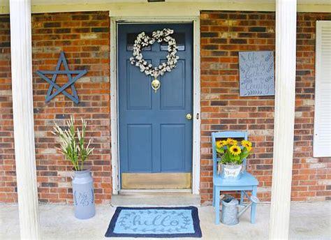 country blue front door project  decoart