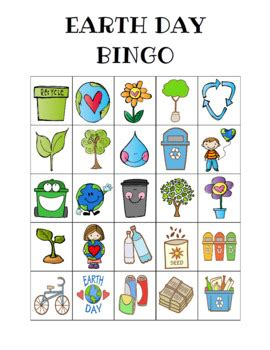 earth day bingo custom printables  celebration station tpt