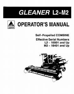 Gleaner M2 Combine Manual