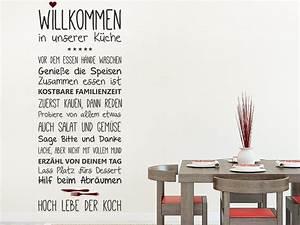 Wandtattoo Küche Bilder : wandtattoo willkommen in unserer k che ~ Sanjose-hotels-ca.com Haus und Dekorationen