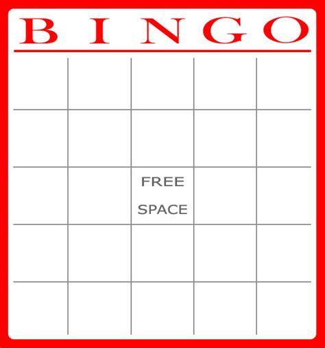 Bingo Card Template Free Bingo Card Template Bingo