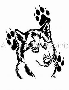 wolf and paw print tattoo designs | stencil lobo ...