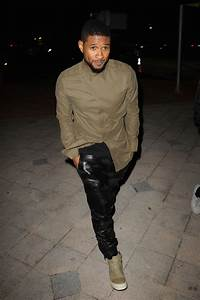 Usher Spotted in Helmut Lang Flap Shirt & Rick Owens Sneakers