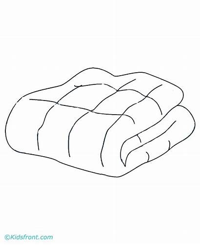 Blanket Coloring Pages Picnic Clipart Basket Empty