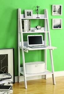 Modern, White, Ladder, Desk, U0026, Bookcase, Combination, With, Flip, Down, Desk, U2013, Computerdesk, Com
