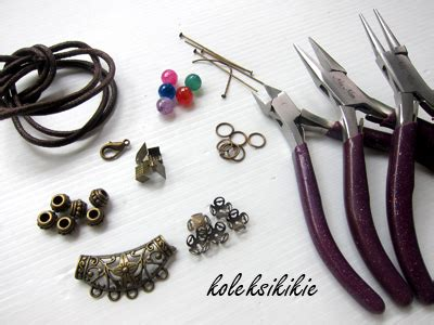 tang set kerajinan gudang tutorial membuat kalung