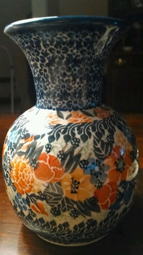 images  polish pottery vases  pinterest