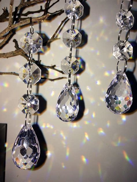 33FT Fashion Acrylic Crystal Beads Hanging Tree Garland