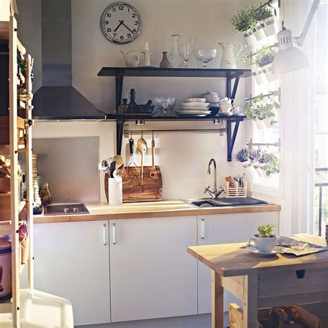 cuisine applad ikea ikea applad cabinets with black open shelving and herb