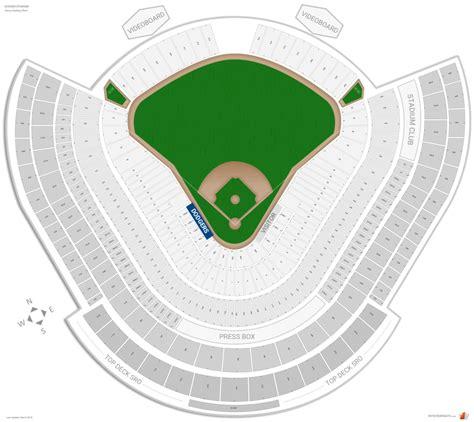 los angeles dodgers seating guide dodger stadium