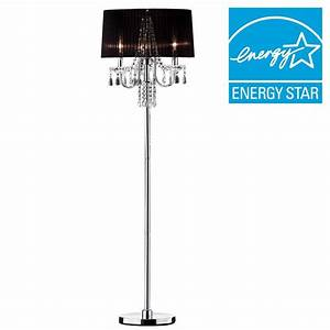 ore international 61 in silver crystal drop floor lamp k With drop 4 floor lamp