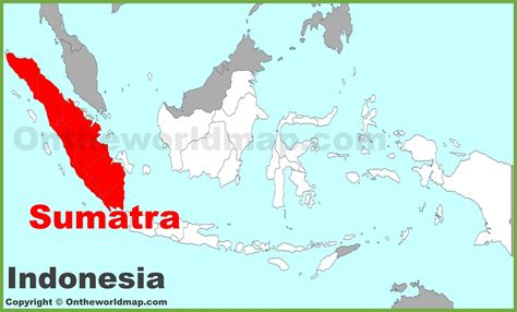 sumatra location   indonesia map