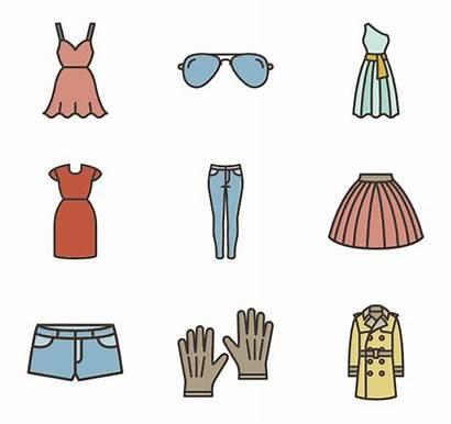 Icon Clipart Transparent Clothes Linear Packs Clip