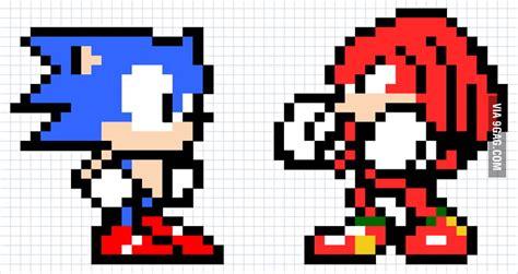 Sonic Vs Knuckles Pixel Art