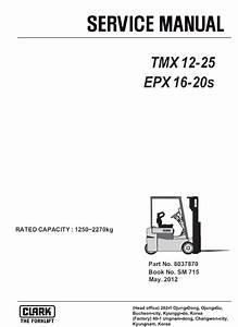 Clark Forklift Tmx12