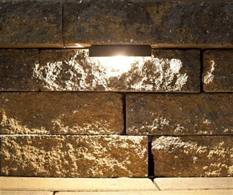 led retaining wall lights led retaining wall light kit nox lighting
