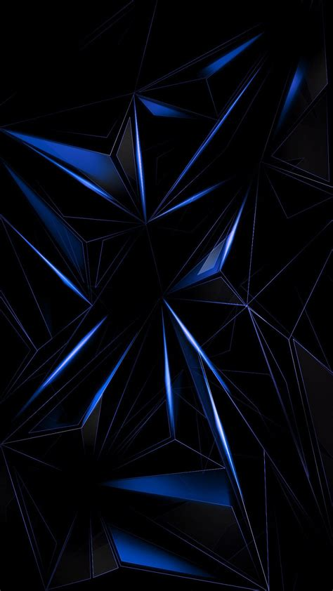 Blue Geometric Abstract Wallpaper Abstract And