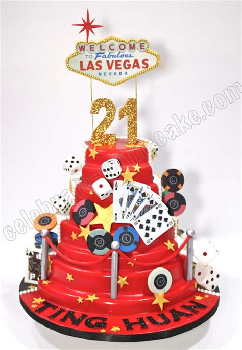 celebrate  cake st birthday las vegas casino