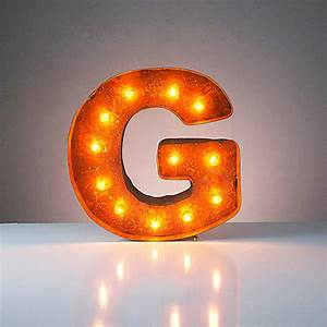 letter g 12quot vintage marquee lights touch of modern With marquee letter g