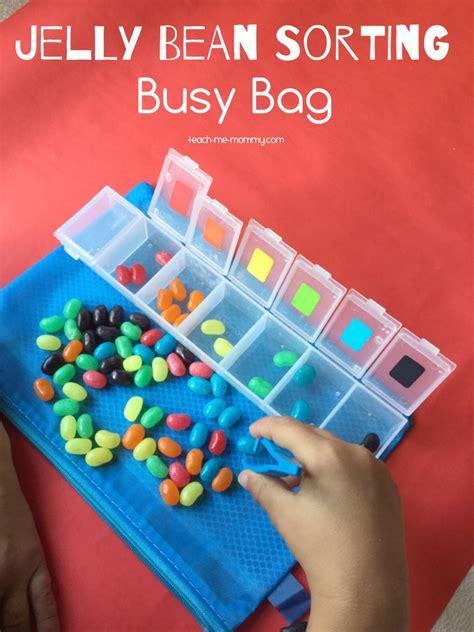 jelly beans busy bag teach  mommy