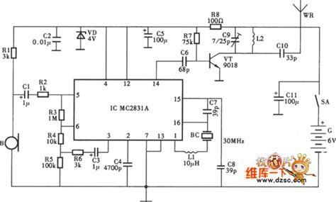 The Wireless Microphone Circuit Amplifier