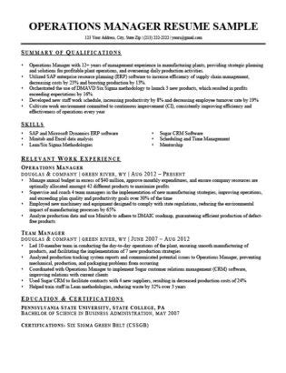 Sle Resume For Operations Manager by Project Manager Resume Sle Writing Tips Resume