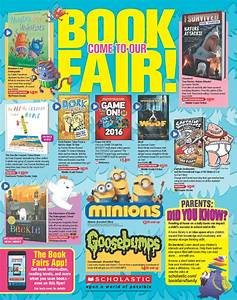 book fair With scholastic book fair flyer template