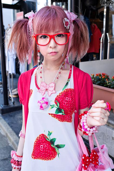 moco  harajuku  super cute strawberry themed style