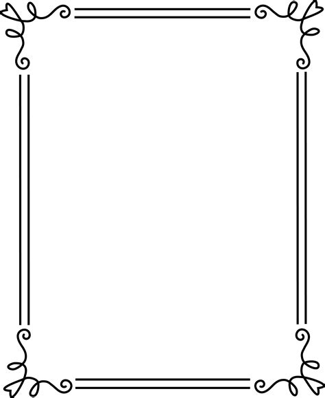 simple frame clipart png   cliparts