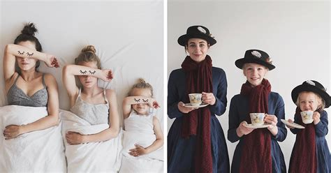 Mother Of Two Takes Adorable Photos Of Herself And Her