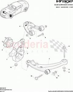 Aston Martin Virage Front Suspension Assembly Parts