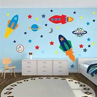 interesting kidsroom wall mural Toddler Boy Bedroom Wall Decals Pictures For Kids Includi ...