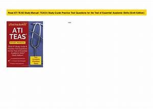 Read Ati Teas Study Manual  Teas 6 Study Guide Practice