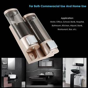 Chuangdian Manual Hand Soap Dispenser Wall Mount Double