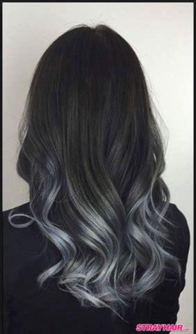 haarfarbe schwarz grau schwarze haare zu grau ombre balayage in einer sitzung