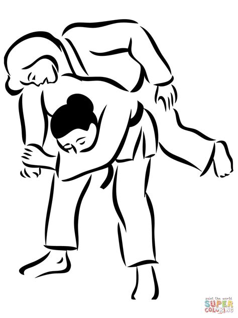 Judo Kleurplaat by Judo Coloring Pages Coloring Home
